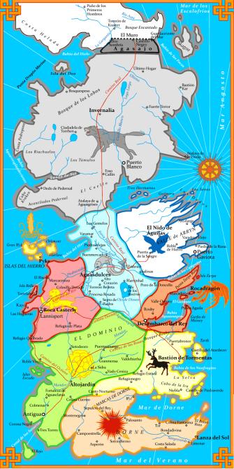 Mapa político de Poniente traducido por mí.